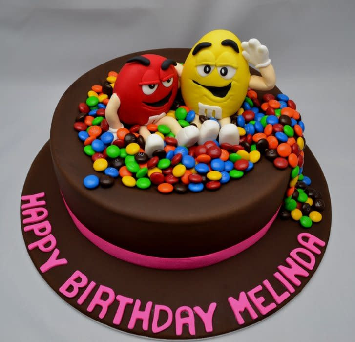 M.A.C Birthday Cake  M&M s cake cake by LauraSprinkles CakesDecor
