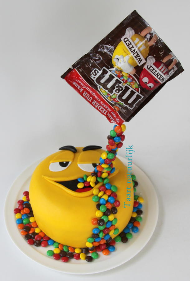 M.A.C Birthday Cake  Yellow loves M&M s cake by Inge ten Cate CakesDecor