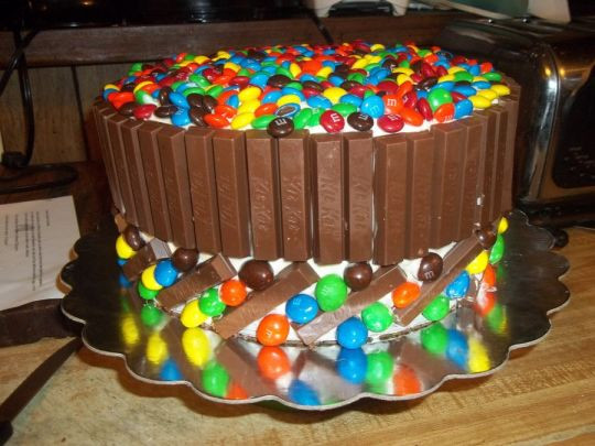 M.A.C Birthday Cake  Kit Kat & M&M Cake cake by Cindy White CakesDecor