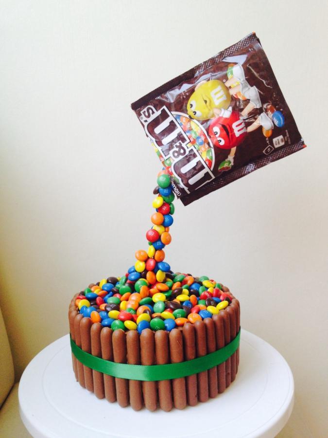 M.A.C Birthday Cake  M&M s Gravity Cake cake by Donna Sanders CakesDecor