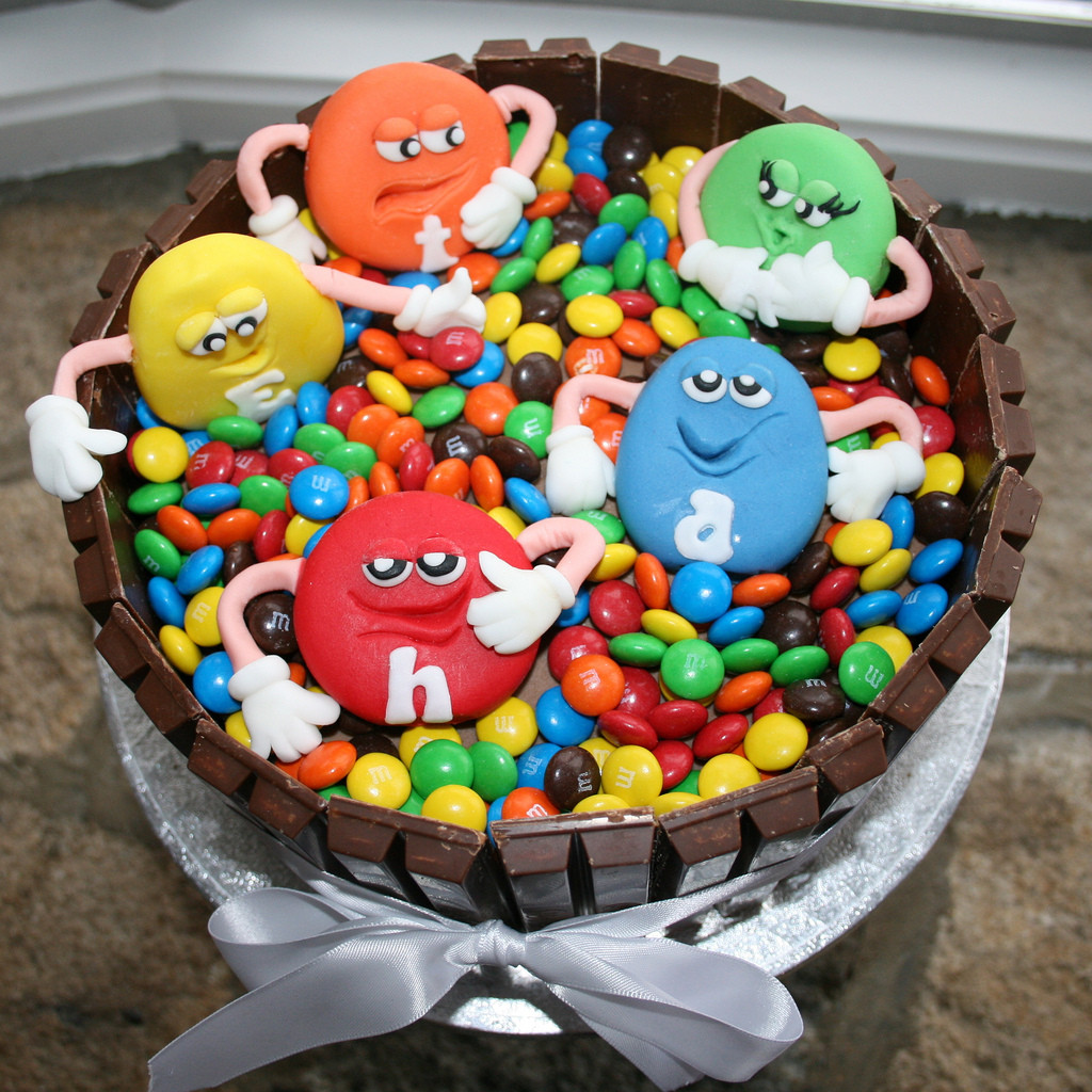 M.A.C Birthday Cake  M&M Cake Made for my own son s birthday