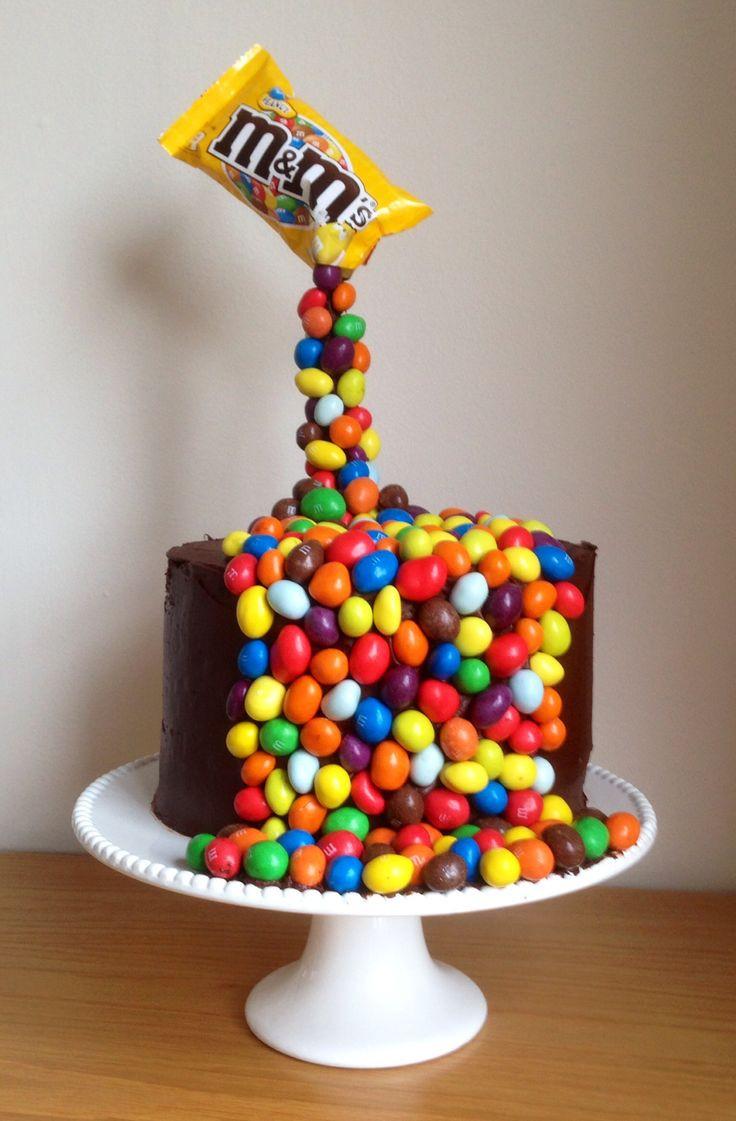 M.A.C Birthday Cake  Giles birthday cake M&M illusion gravity cake