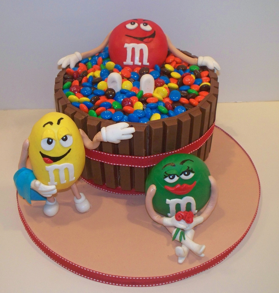 M.A.C Birthday Cake  M&m Hot Tub Cake CakeCentral