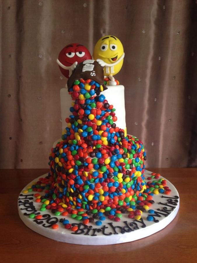 M.A.C Birthday Cake  M&M s Birthday Cake cake by Sweet Shop Cakes CakesDecor