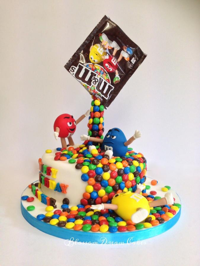 M.A.C Birthday Cake  M&Ms for Frankie cake by Blossom Dream Cakes Angela