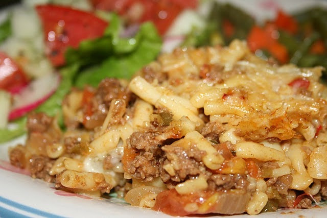 Mac And Cheese With Ground Beef  Deep South Dish Ground Beef Mac and Cheese Casserole