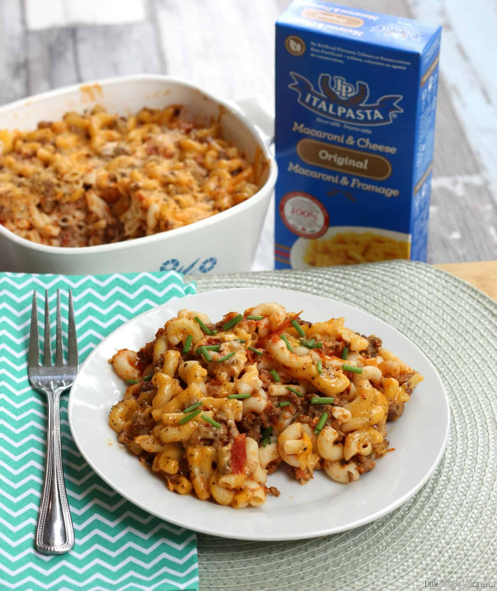 Mac And Cheese With Ground Beef  Homemade Macaroni and Cheese with Ground Beef Recipe