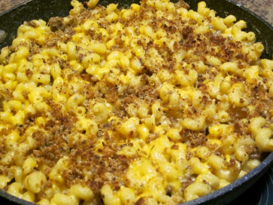 Mac And Cheese With Ground Beef  Macaroni and Cheese with Ground Beef – My Favourite Pastime