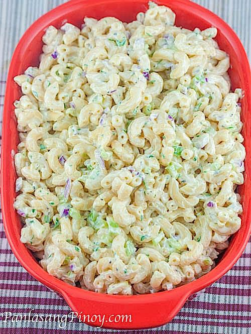 Macaroni Salad Recipe Easy  Easy Macaroni Salad Panlasang Pinoy