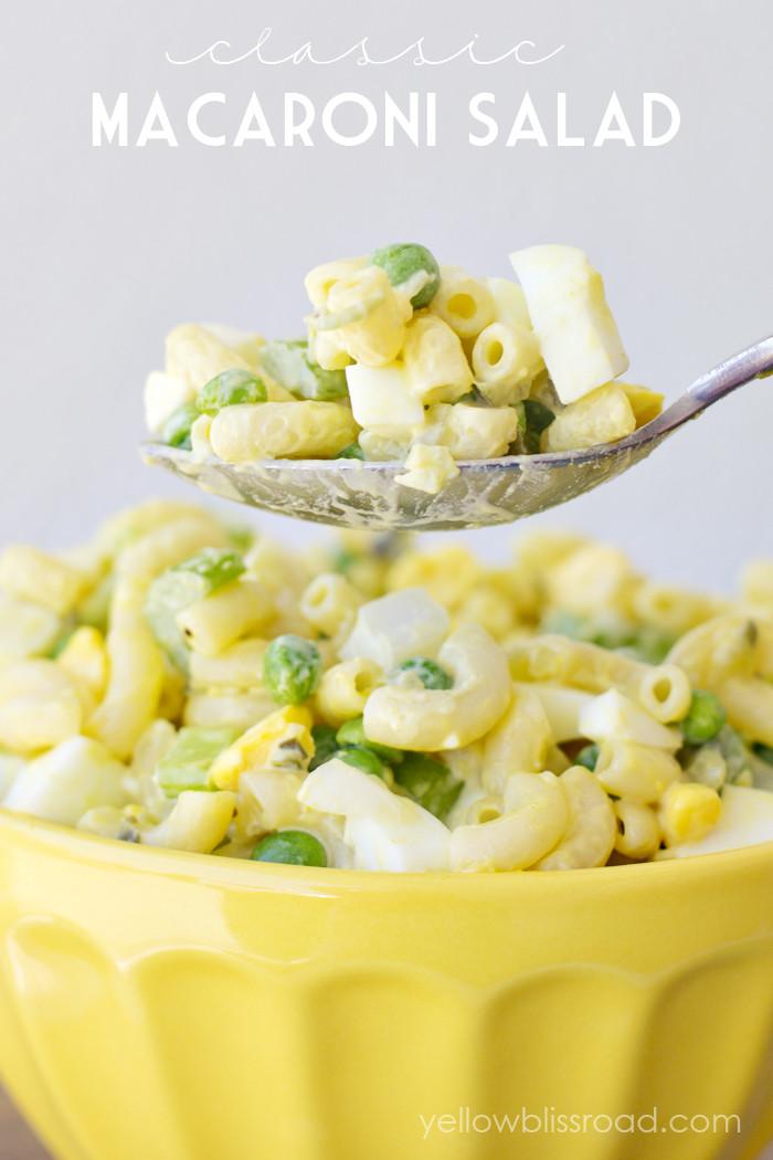 Macaroni Salad With Eggs  Classic Macaroni Salad