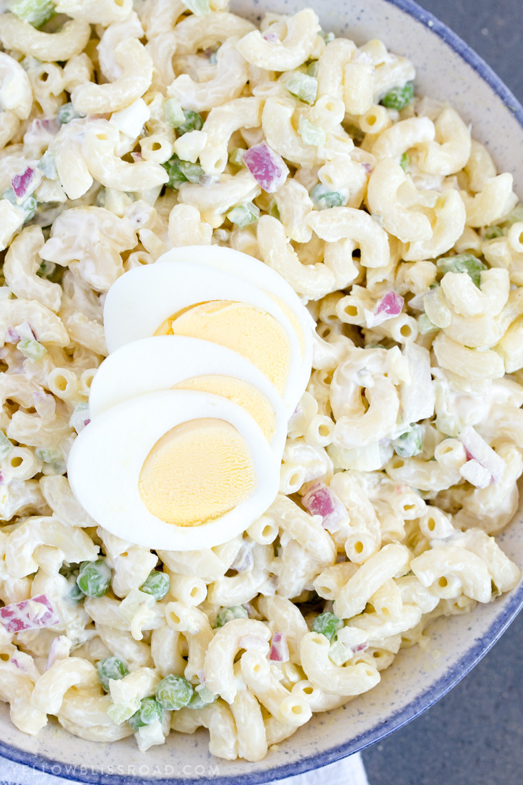 Macaroni Salad With Eggs  macaroni salad with eggs and sweet pickles