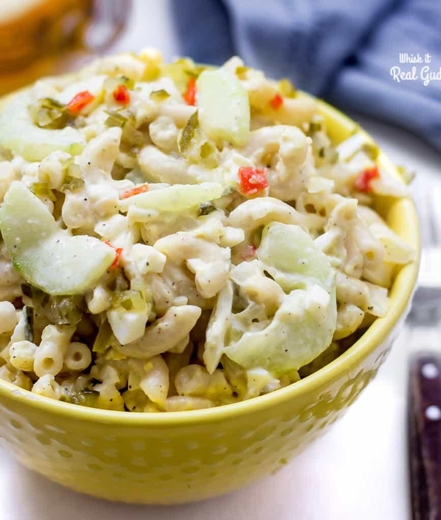 Macaroni Salad With Eggs  Creamy Cucumber and Egg Macaroni Salad