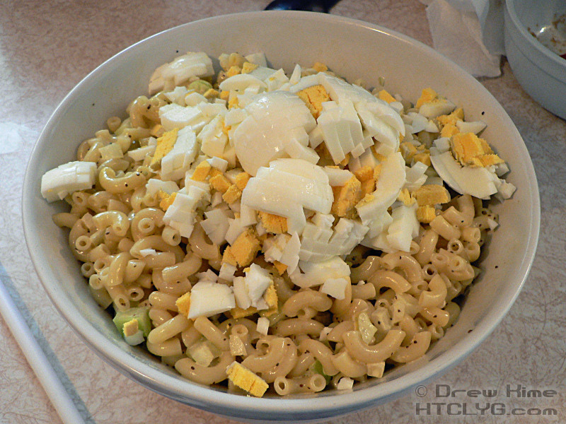 Macaroni Salad With Eggs  macaroni salad with eggs and pickles