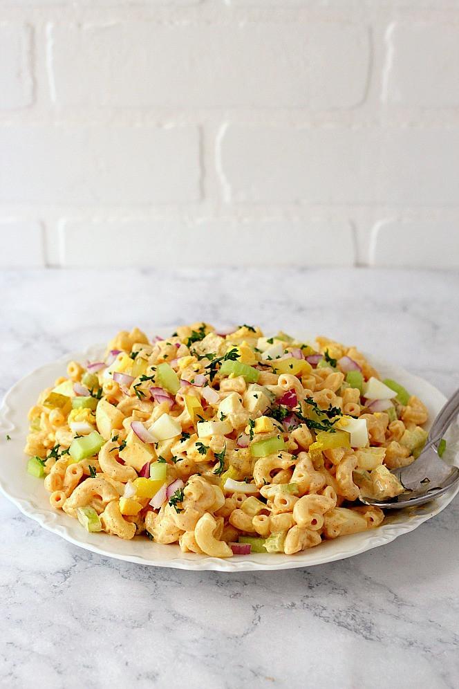 Macaroni Salad With Eggs  Deviled Egg Macaroni Salad Recipe Crunchy Creamy Sweet