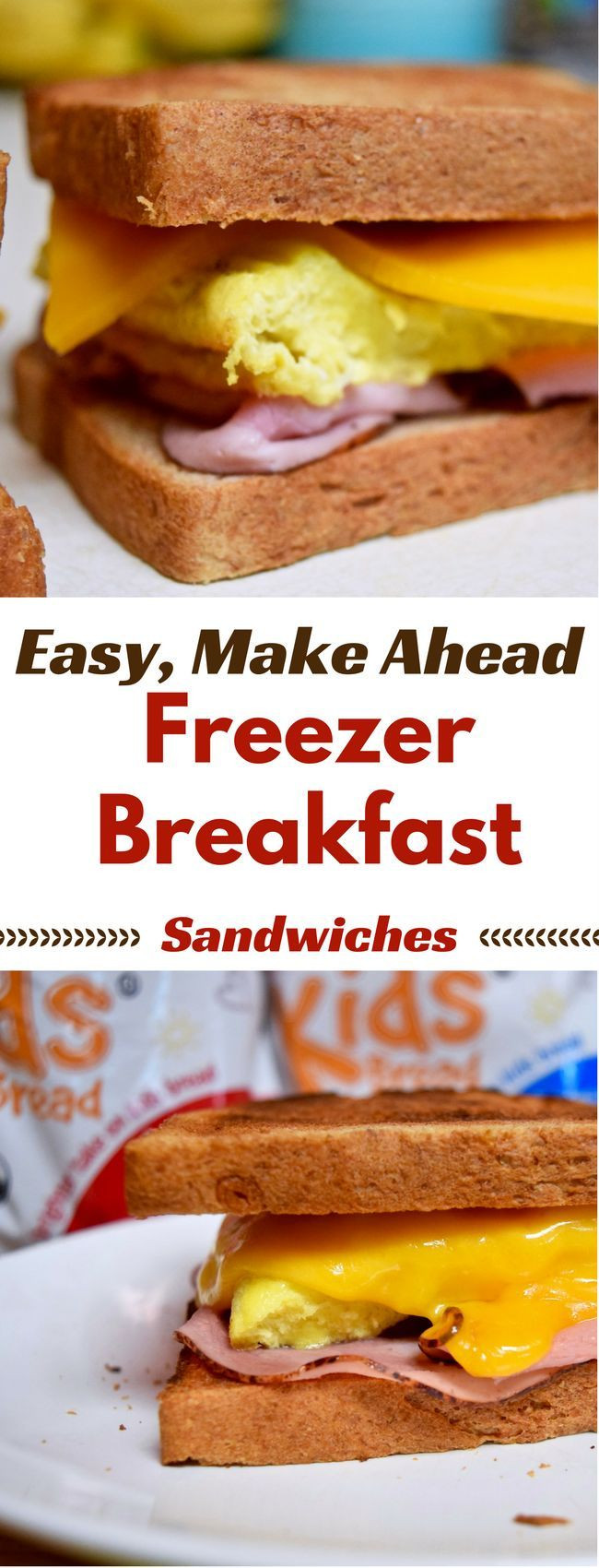 Make Ahead Breakfast Recipes To Freeze  Easy Make Ahead Freezer Breakfast Sandwiches