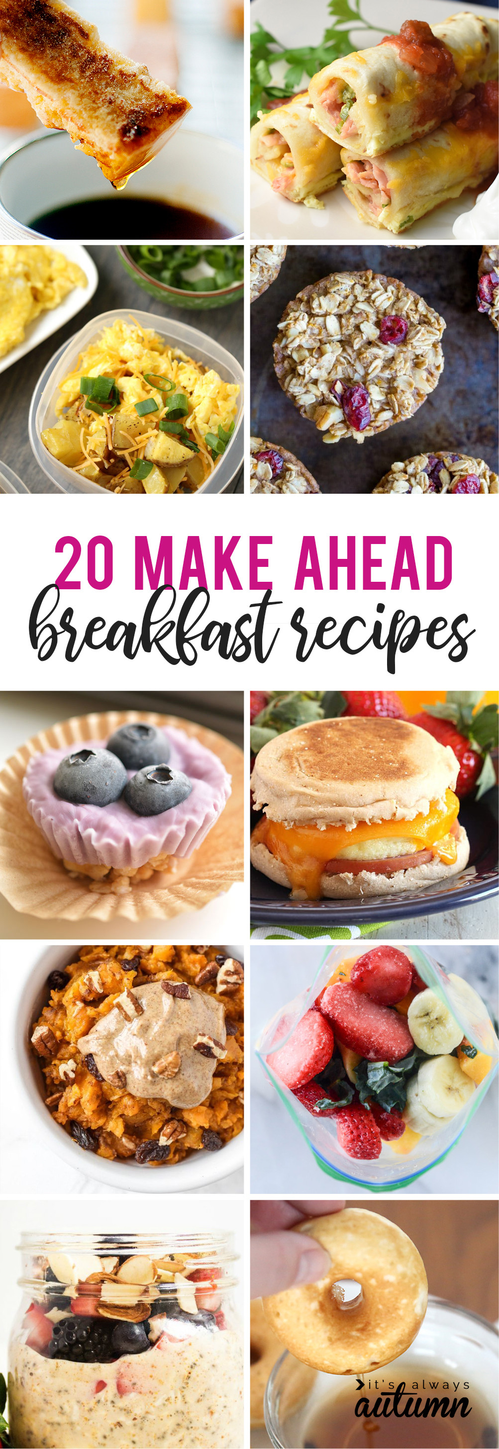 Make Ahead Breakfast Recipes To Freeze  20 make ahead breakfasts for busy school mornings It s
