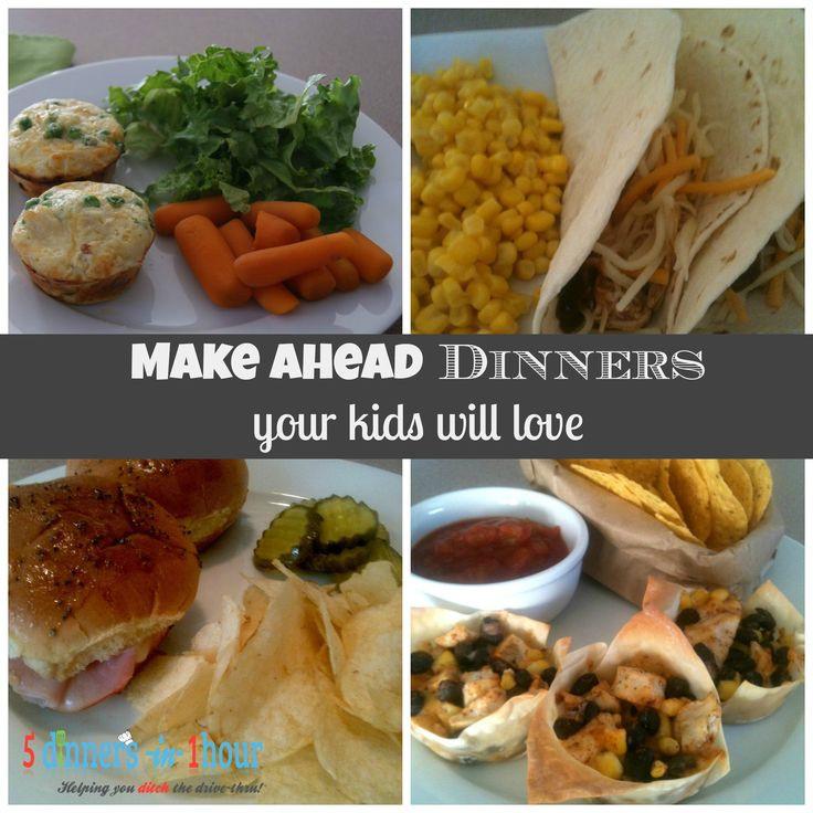 Make Ahead Dinners  kid friendly make ahead dinner ideas ReCipEs