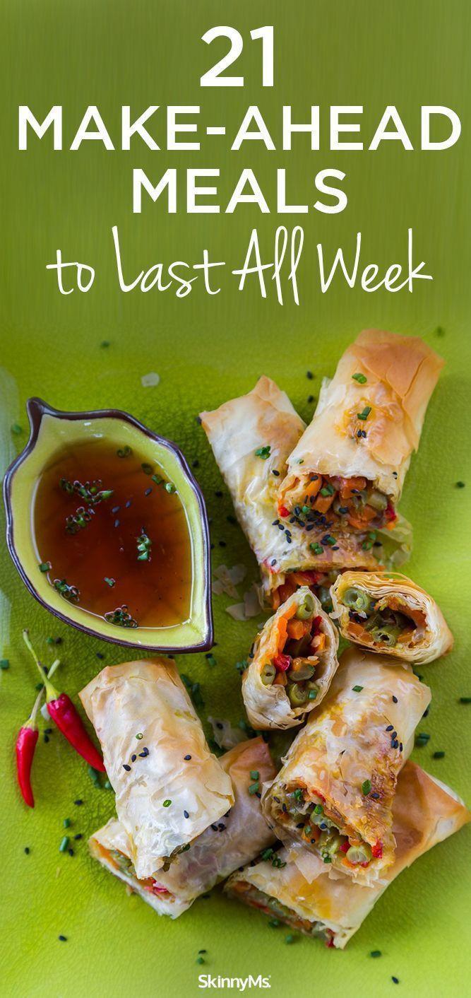 Make Ahead Dinners  21 Make Ahead Meals to Last All Week