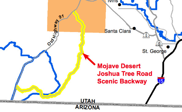 Map Of Mojave Dessert  Starling Travel Subaru XV Crosstrek on the Mojave Desert