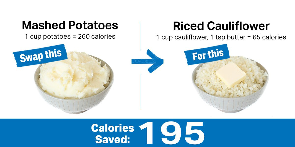 Mashed Potato Calories  10 Healthy Swaps to Save You 200 Calories [Infographic