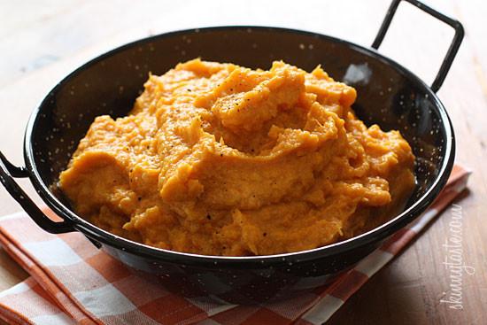 Mashed Sweet Potato Recipes  Garlic Sweet Potato Mash
