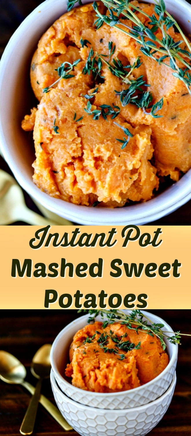 Mashed Sweet Potatoes Instant Pot  Pressure Cooker Easy Mashed Sweet Potatoes Clean Eating