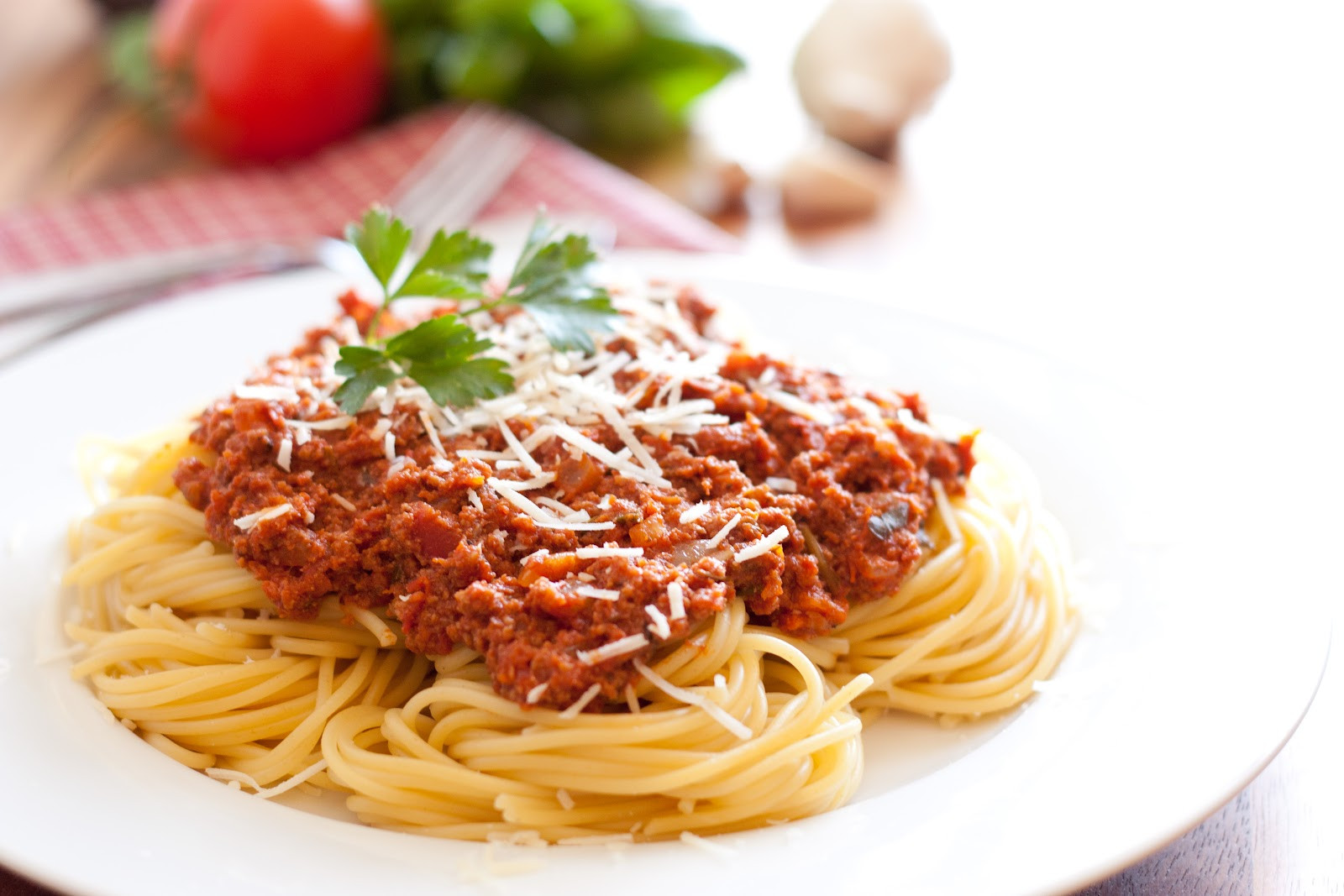 Meat Sauce For Spaghetti  Calories in Spaghetti with Meat Sauce EnkiVillage