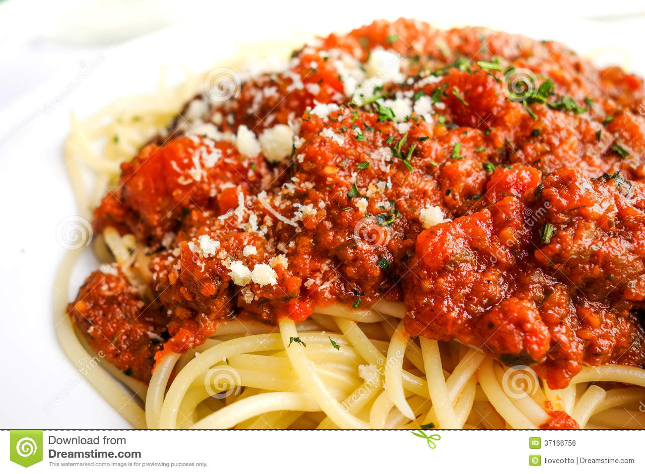 Meat Sauce For Spaghetti  Italian Meat Sauce And Pasta Recipe — Dishmaps