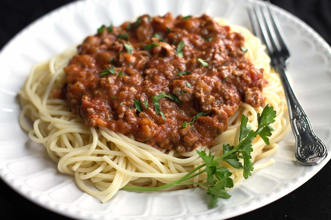 Meat Sauce For Spaghetti  Quick & Easy Spaghetti Bolognese Erren s Kitchen