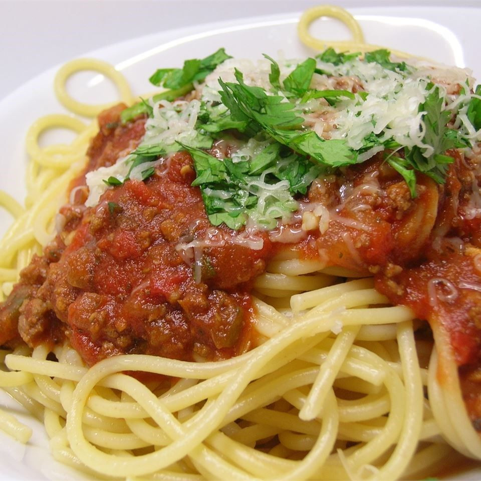 Meat Sauce For Spaghetti  Pasta sauce with mince recipe All recipes UK