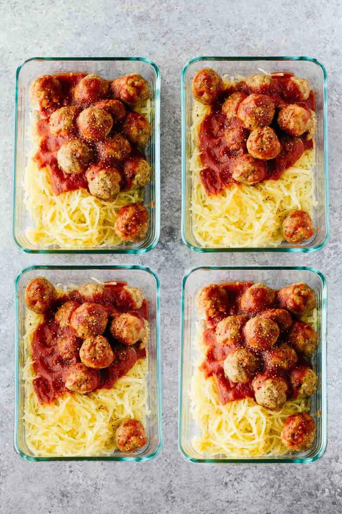 Meatball Dinners Ideas  Paleo Turkey Meatballs Meal Prep Bowls Jar Lemons