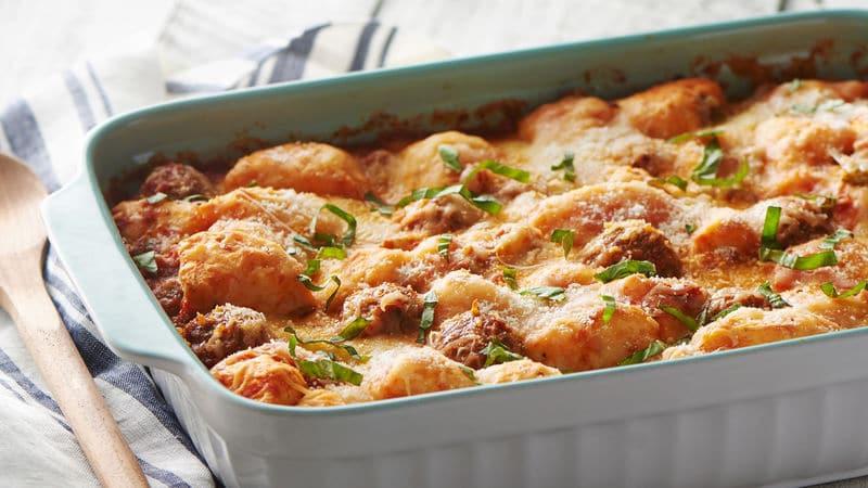 Meatball Dinners Ideas  Meatball Sub Bubble Up Bake from Pillsbury