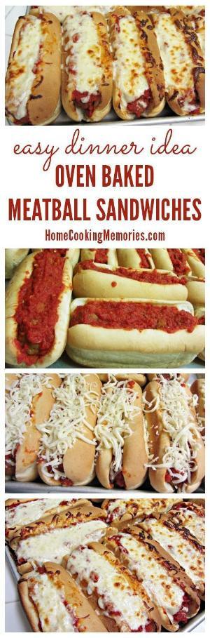 Meatball Dinners Ideas  Easy Dinner Idea Oven Baked Meatball Sandwiches Home