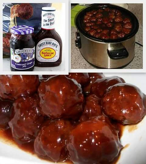 Meatballs With Grape Jelly And Bbq Sauce  Meatballs with grape jelly Grape jelly and Barbecue on
