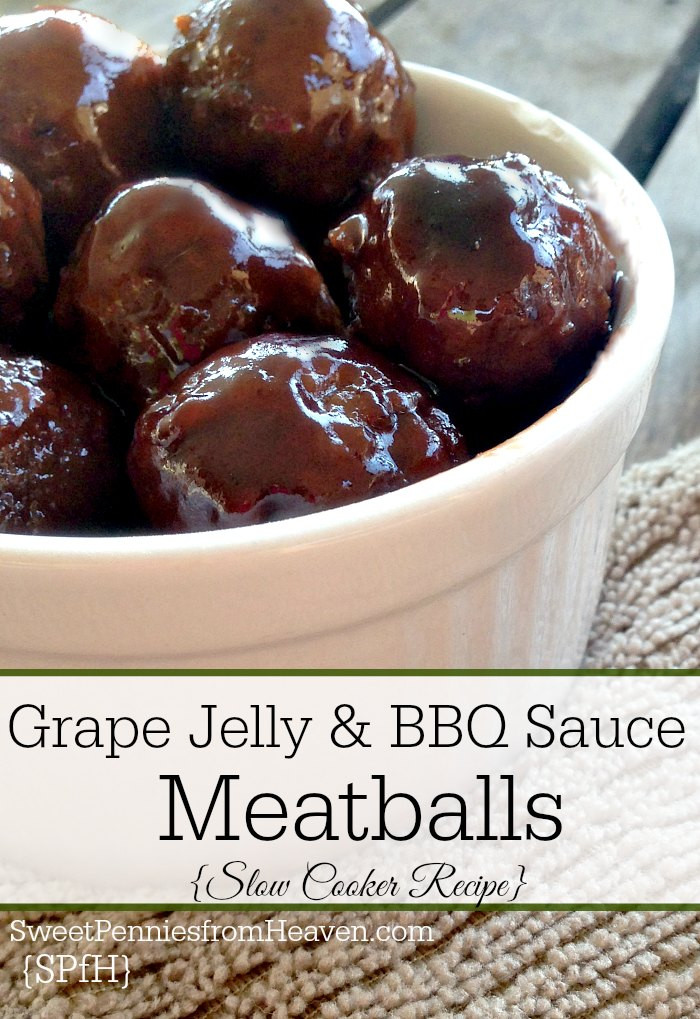 Meatballs With Grape Jelly And Bbq Sauce  Slow Cooker Grape Jelly and BBQ Sauce Meatballs