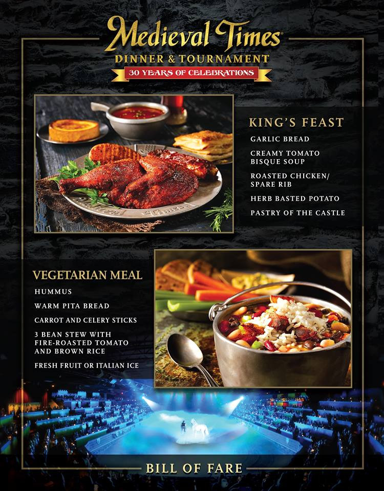 Medieval Times Dinner Menu  Me val Times Dinner & Tournament Show in Orlando FL
