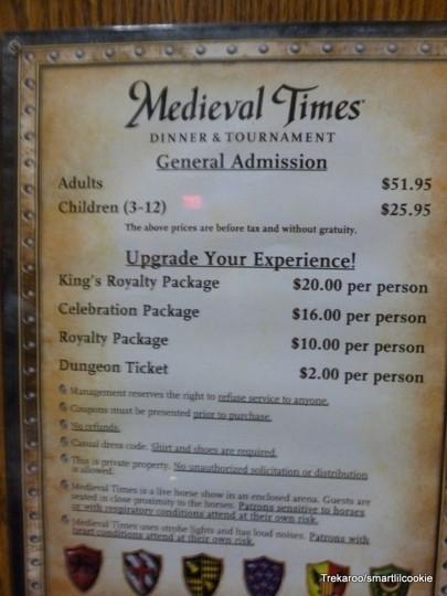 Medieval Times Dinner Menu  Me val Times Dinner & Tournament Myrtle Beach SC