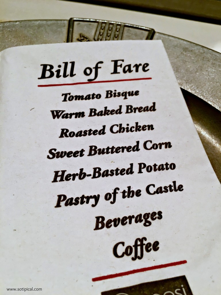 Medieval Times Dinner Menu  Me val Times Dinner and Tournament So TIPical Me
