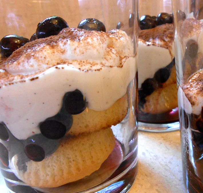 Mediterranean Diet Dessert  Yogurt and Blueberry Tiramisu Style Dessert
