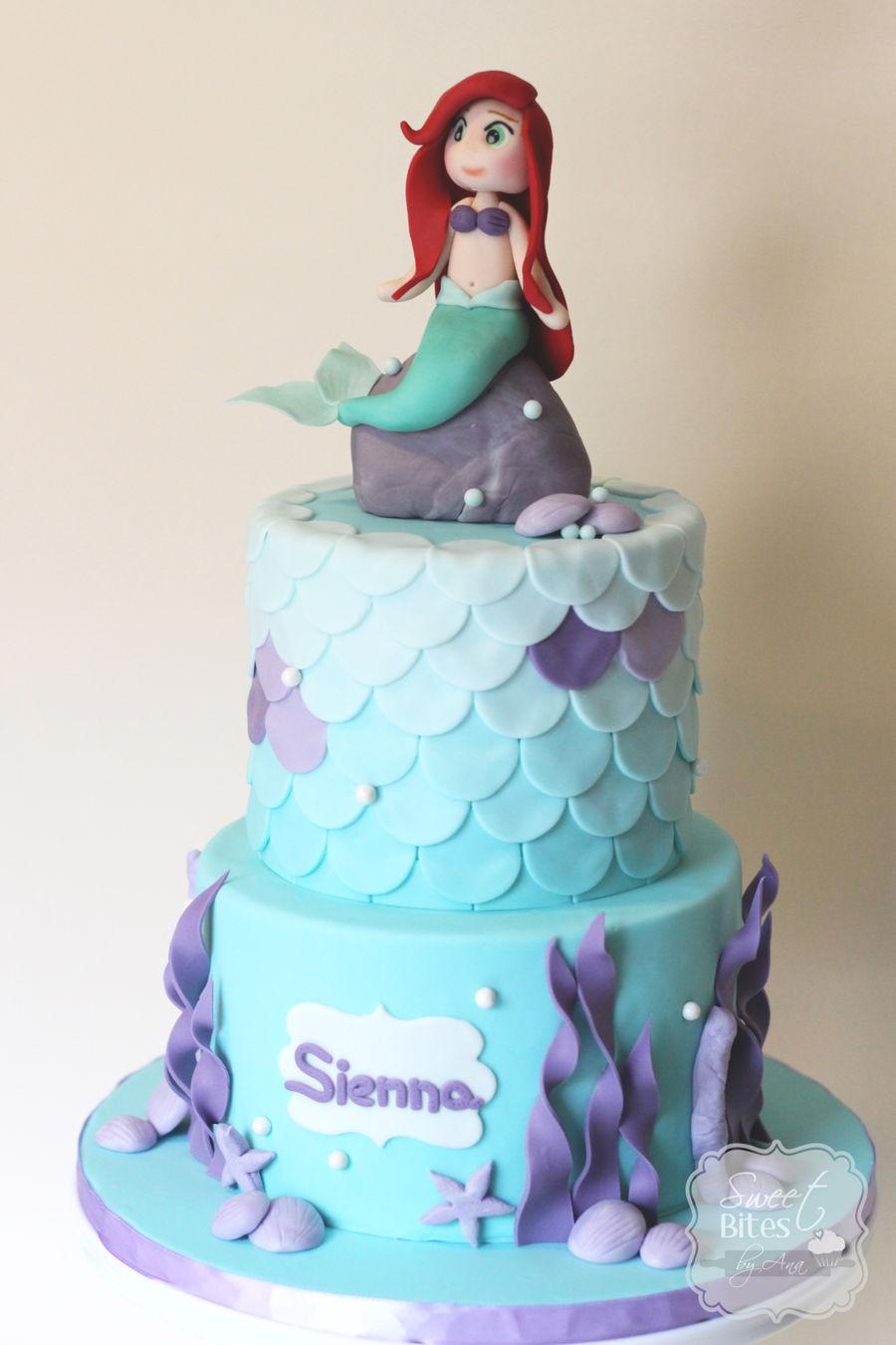Mermaid Birthday Cake  Little Mermaid Birthday Cake CakeCentral