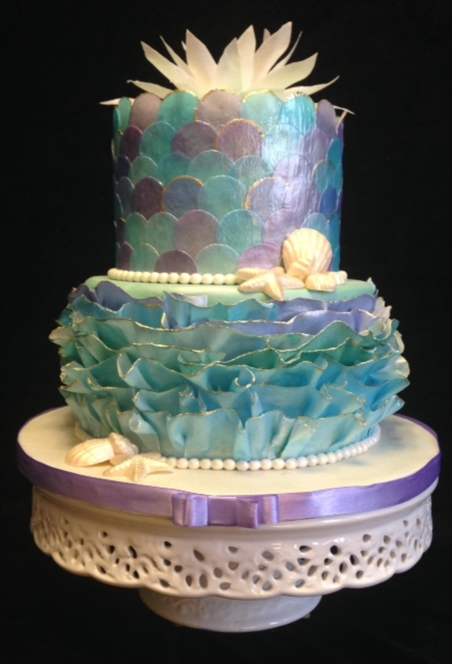 Mermaid Birthday Cake  Decoupage Mermaid Cake CakeCentral