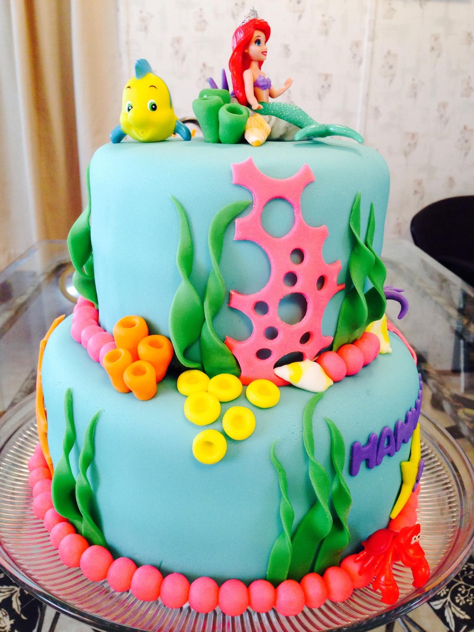 Mermaid Birthday Cake  Little Mermaid Cake CakeCentral