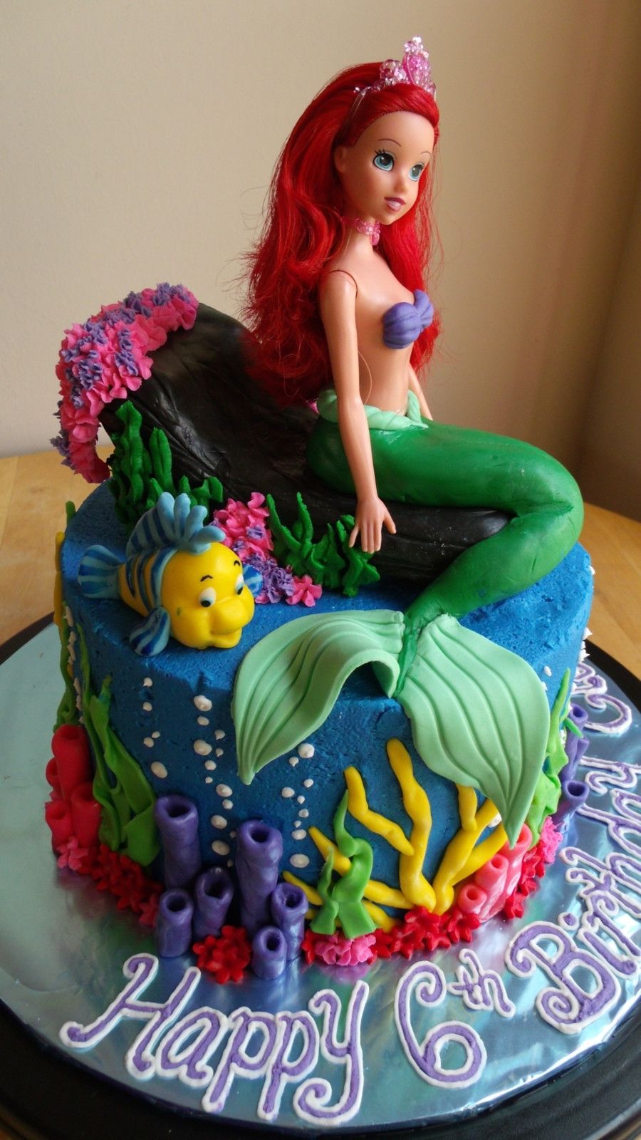 Mermaid Birthday Cake  The Little Mermaid Cake And Cupcakes CakeCentral