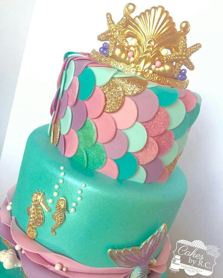 Mermaid Birthday Cake  50 best Mermaid Cakes images on Pinterest