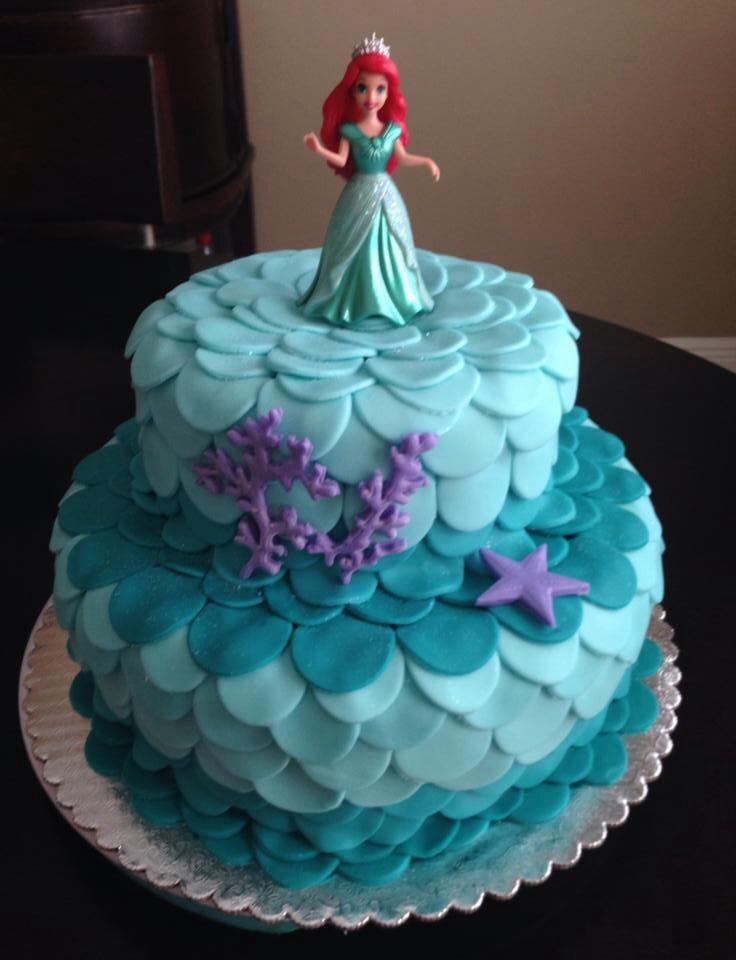 Mermaid Birthday Cake  Little Mermaid Birthday Cake By Me