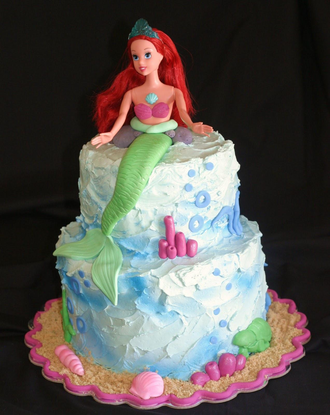 Mermaid Birthday Cake  Pink Little Cake Mermaid Cake