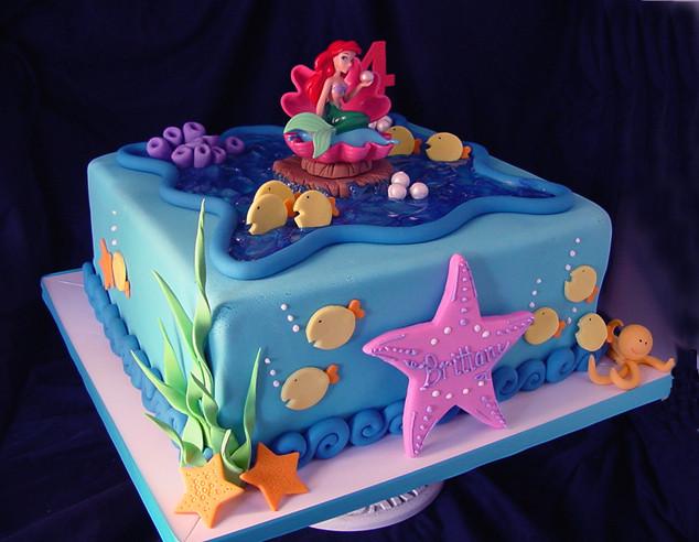 Mermaid Birthday Cake  Themed Cakes Birthday Cakes Wedding Cakes Mermaid