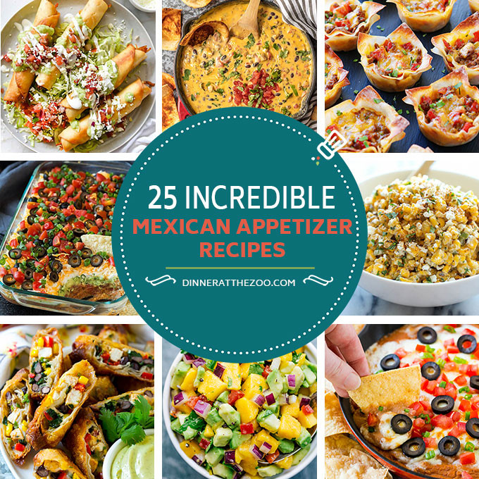 Mexican Food Appetizers  Mexican Appetizer Recipe Ideas