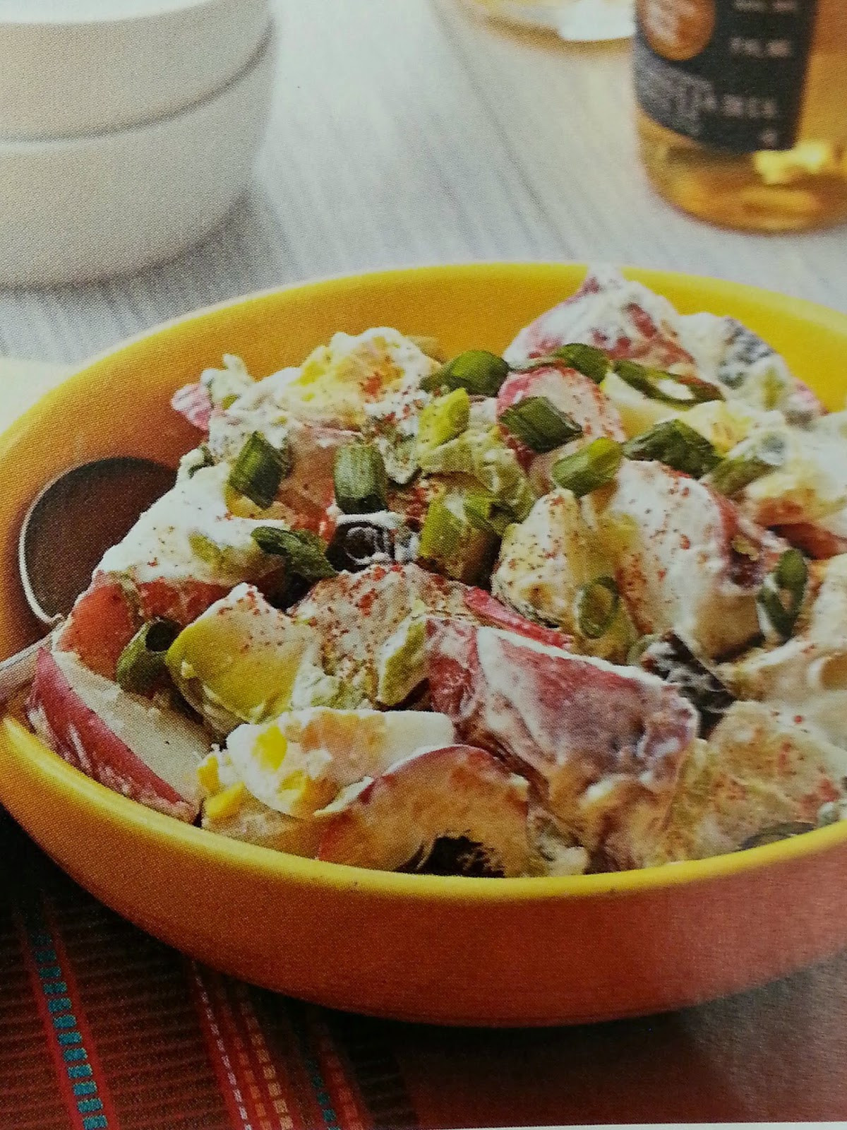 Mexican Potato Salad  cooking the recipe Summer Mexican Potato Salad