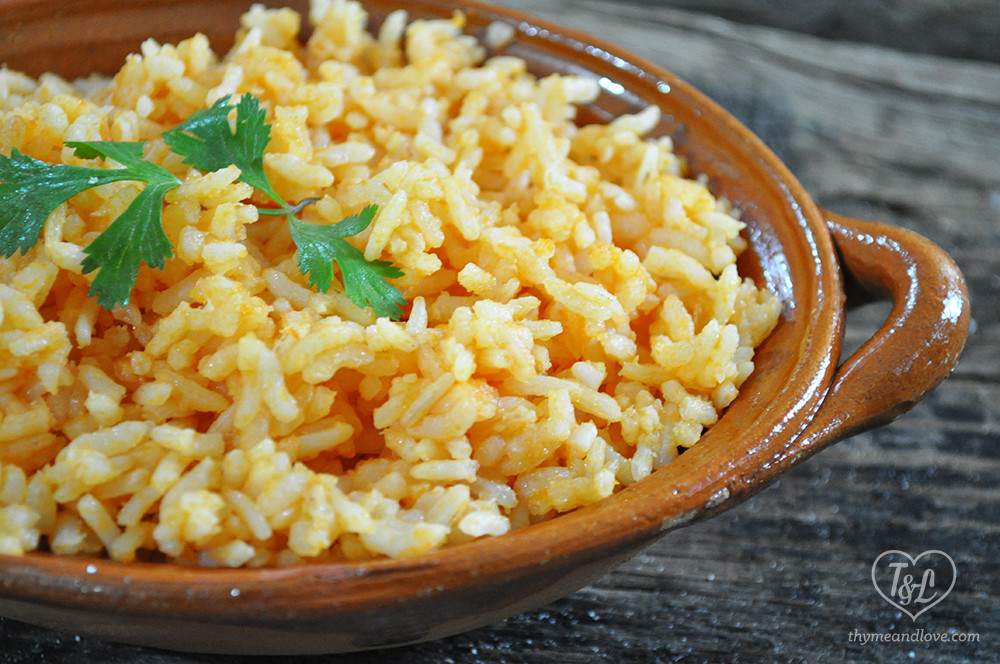 Mexican Red Rice  Authentic Mexican Rice Thyme & Love